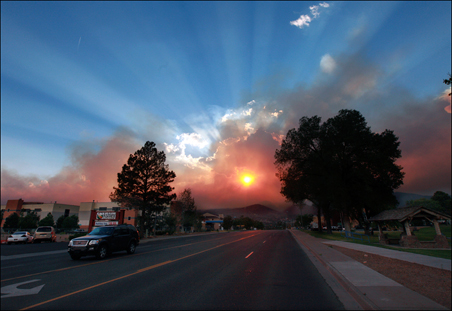 The Las Conchas blaze, whose cause is still under investigation, is about 3 percent contained.