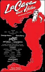 """La Cage Aux Folles"" original Broadway window card"