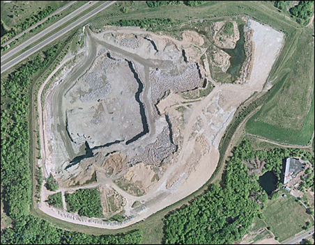 Rainbow Quarry from above