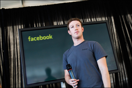 Facebook CEO Mark Zuckerberg listens to a question after unveiling a new messaging system during a news conference in San Francisco, California.