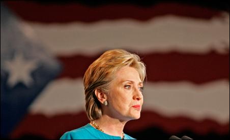 Sen. Hillary Rodham Clinton at her rally in San Juan, Puerto Rico, Sunday.
