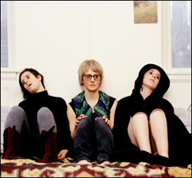 "<strong>Anna Marie Shogren (center) and cohorts test their limits as introverts and performance artists in ""I'm a Jerk.""</strong>"