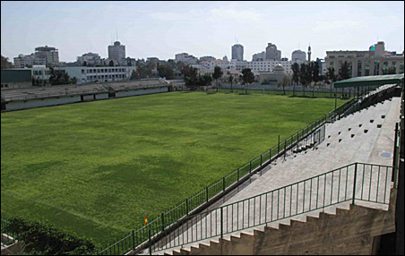 One of the nicer fields where the Gaza World Cup will be played.