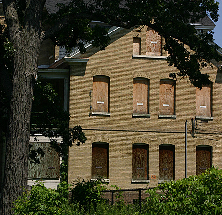 The Band Barracks, one of 28 historic structures to be salvaged and reused.