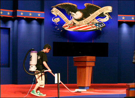 Like the candidates, Alan Justice is also preparing for tonight's debate at the University of Mississippi.