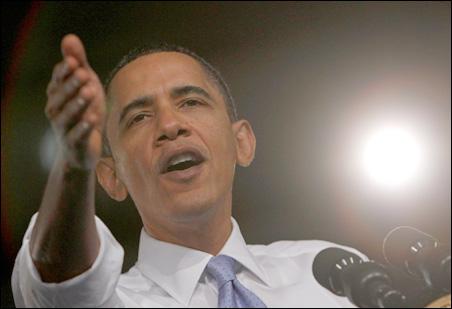 President Barack Obama delivers remarks on health insurance reform at Walter F. Ehrnfelt Recreation and Senior Center in Strongsville, Ohio, on Monday.