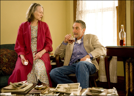 "Stephen D'Ambrose and Barbara Kingsley as Beverly and Violet Weston in ""August: Osage County"""