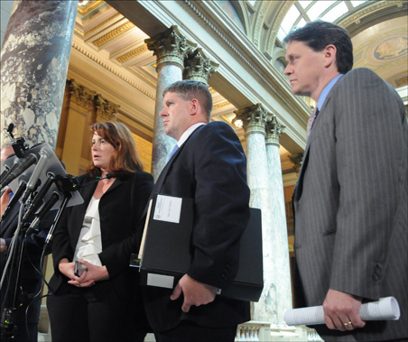 GOP leadership won't budge on keeping spending to what's in the state checkbook.