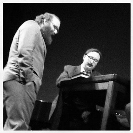 Andy Sturdevant and author John Hodgman