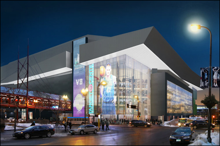 Target Center would get a makeover inside and out under a plan unveiled today.