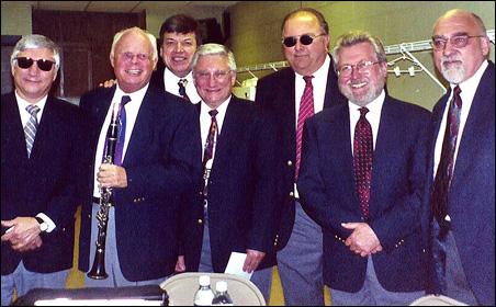 Band members from left to right: Tom Andrews, Dick Ramberg, Art Katzman, Bob Andrews, Tom Chepokas, Reuben Ristrom and Bruce Allard.