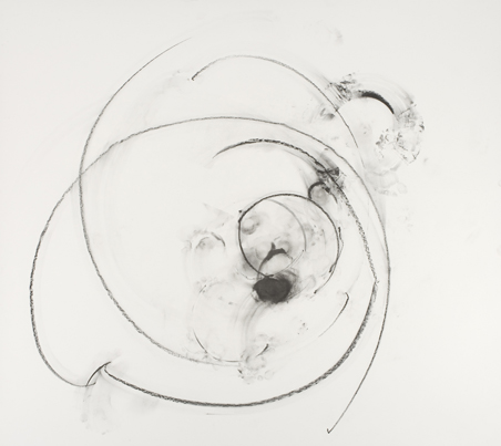 Trisha Brown, Untitled, 2007, charcoal, pastel on paper