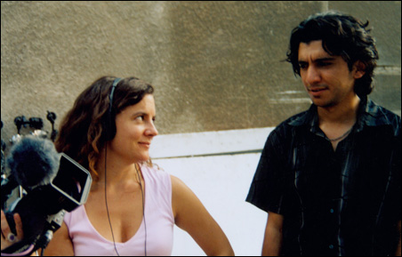"""Nina Davenport and Muthana Mohmed in """"Operation Filmmaker."""""""