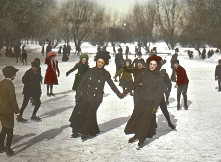 Skaters in Van Cleve Park in 1901.