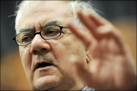 """Rep. Barney Frank: """"The era of light-touch [financial] regulation is over."""""""