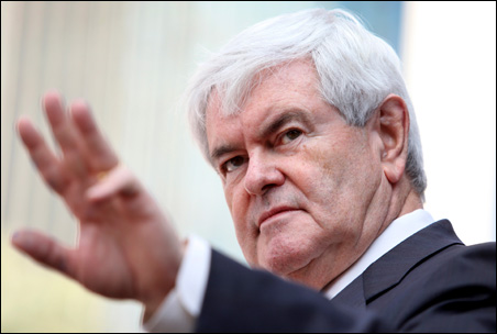 Newt Gingrich promises to fire Ben Bernanke if elected president.