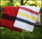 "Iconic ""Faribo"" blankets."