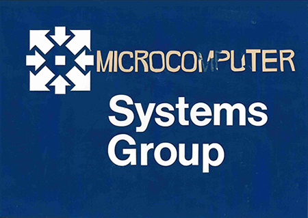 Vintage microcomputer systems sign