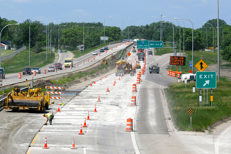Photo of road construction