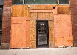 photo of door at construction site
