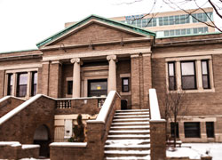 photo of old walker library building