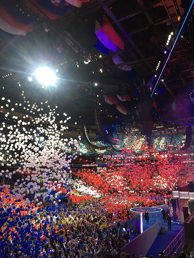 photo of balloons dropping