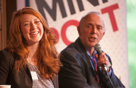 photo of bierschbach and grow speaking at event