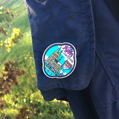 photo of a sewn on patch from the city of köln germany