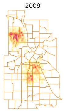 shots heatmap 2009