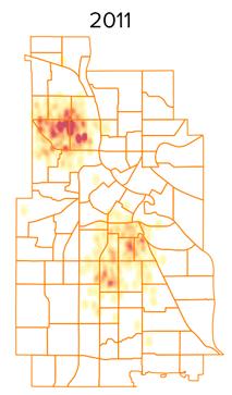 shots heatmap 2011