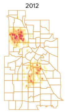 shots heatmap 2012
