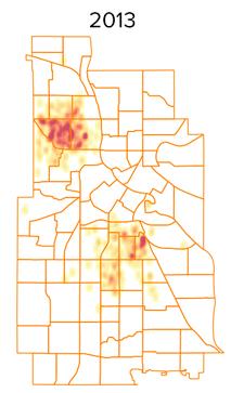 shots heatmap 2013