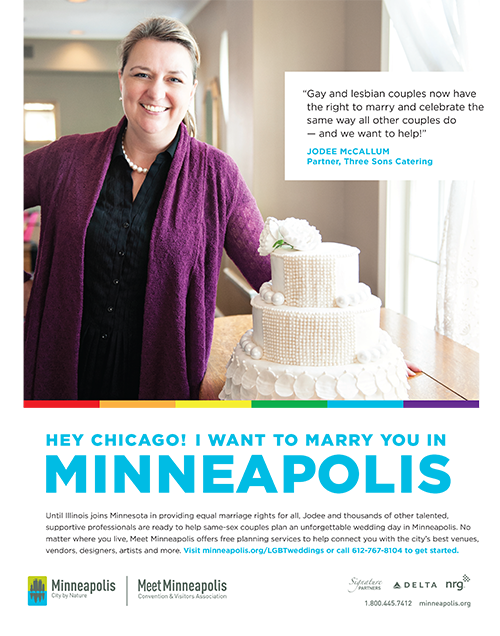 print ad promoting twin cities gay marriage