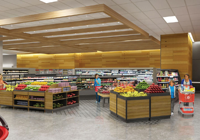 rendering of grocery section of new target store