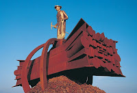 Iron rnage sculpture