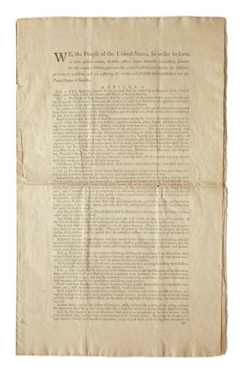 printed US constitution