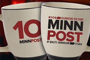 Limited edition 10th Anniversary MinnPost mugs
