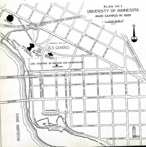 map of u of m c. 1885
