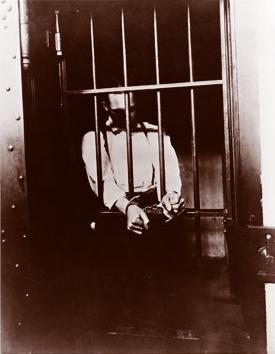 An inmate in solitary confinement at the State Reformatory in 1917.
