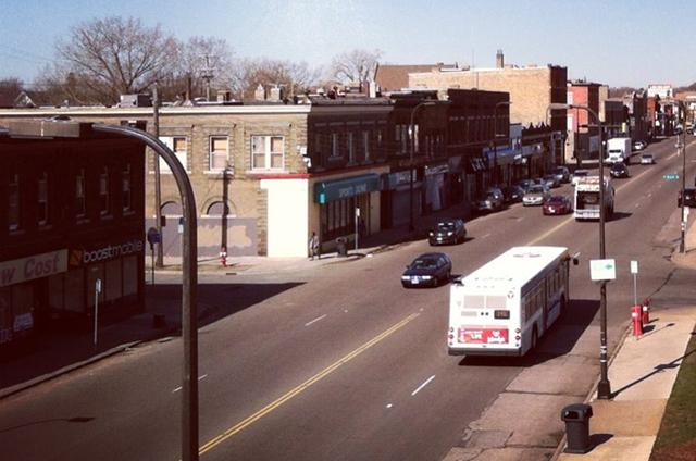 Photo of West Broadway in Minneapolis
