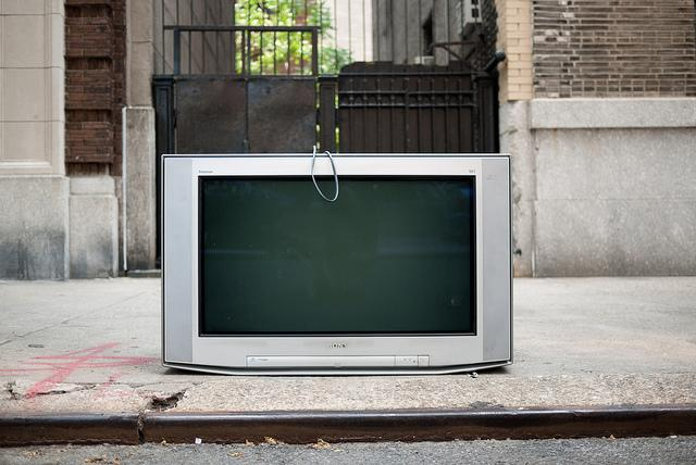 discarded television photo