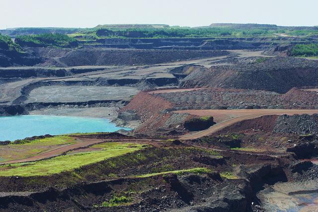 An open-pit mine near Hibbing.