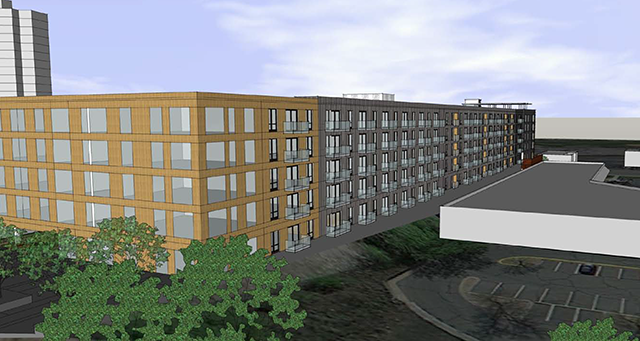 CIDNA asked for a rendering of a six-story building