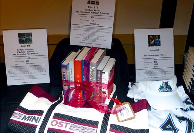 Books and Timberwolves tickets up for bids at the silent auction