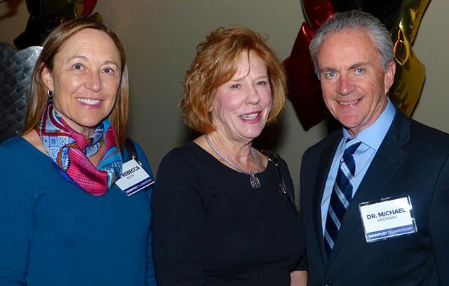 Dr. Rebecca Bahn, Barbara Klaas and Dr. Michael Brennan