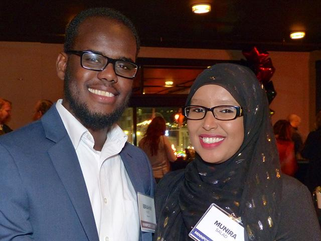 MinnPost journalist Ibrahim Hirsi and Munira Salad