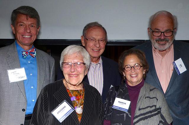 Tom Fraser, Arvonne and Don Fraser, Marcia Avner and Wy Spano