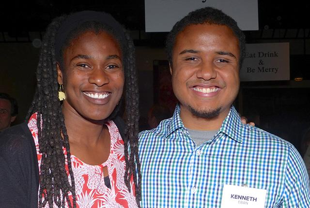 Tracine Asberry and Kenneth Eban