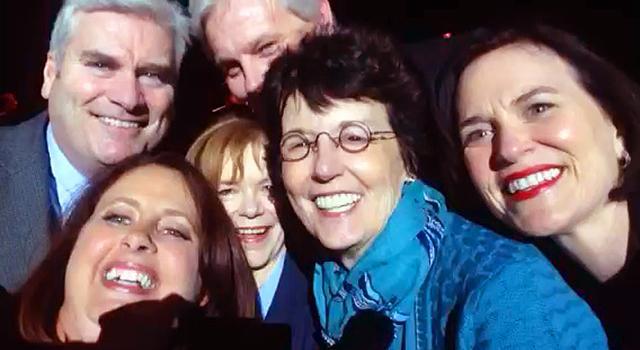 Amy Koch's mid-show selfie
