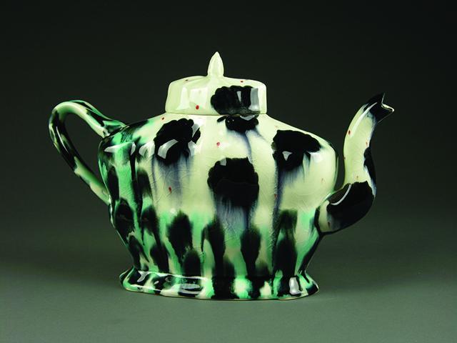 Andrew MartinOoze of Blues, 2012, Slip-cast porcelain, underglaze, polychrome g